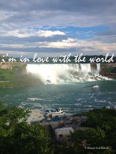 I'm in love with the world // Brittany from Boston