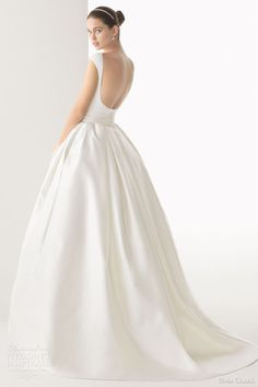 rosa clara bridal 2014 cordoba silk knit rustic silk skirt ball gown open back