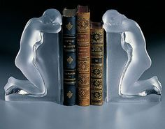 Lalique Crystal - Bookends Reverie - Style No: 1185000