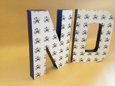 University of Notre Dame Fighting Irish ND - Home Decor, NCAA, College, Basketball, Football, Graduation, Party, Nursery, Paper Mache Letter on Etsy, $17.00