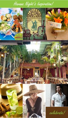 Havana Night's Theme - inspiration board #Havanatheme, #Cubanparty