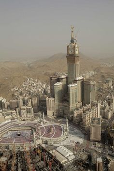 The Abraj Al-Bait Towers, also known as the Mecca Royal Hotel Clock Tower, is a building complex in Mecca, Saudi Arabia. The third tallest building in the world, the tallest clock tower in the world Islamic Architecture, Contemporary Architecture, Building Architecture, Masjid Haram, Mecca Masjid, Islamic New Year, Mekkah, At Least, World