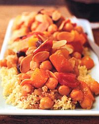 Butternut squash couscous.  This stew like recipe is AMAZING.  No meat, but still incredibly satisfying.  I can't get enough of it!