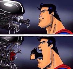чужой бетмен супермен