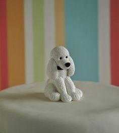 Torta de perro caniche  Perro pastel de bodas Topper  adorno