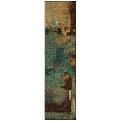 Copper Grove El Yunque Aqua Fusion Area Rug - Aqua/Tan/Brown (Blue/Tan/Brown) - x Langley Street, Mohawk Home, Hallway Runner, Stain Remover Carpet, Watercolor Design, Modern Rugs, Beige Area Rugs, Colorful Rugs, Canopy