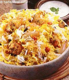 Kofta Biryani recipe | Indian Recipes | by Tarla Dalal | Tarladalal.com | #1970