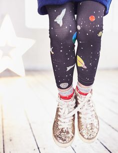 Girls Space leggings! planets, rockets, stars. THESE ARE SO COOL! Boden.