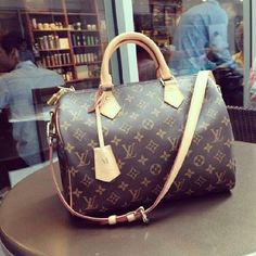 #LouisVuitton Louis Vuitton Speedy 25 Brown Top Handles