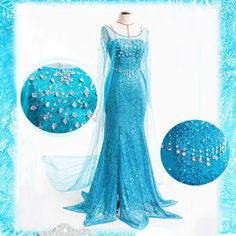 Look at this Amazing gown inspired by the new movie frozen. This made to order dress is beaded with Swarovski crystals. I might just have to splash out on this one.
