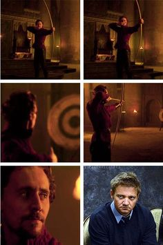 Loki knows how to use a bow - Hawkeye beware. -- plot twist, Loki would be better.