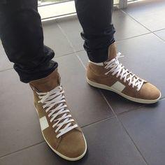 Tan Saint Laurent #sneakers