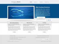 Hosting, web design and computer repair company website design. Company color schema is used.