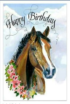 Happy Birthday Qoutes Clipart Messages Horse