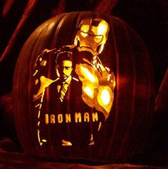 the avengers pumpkin carving patterns free Pumpkin Carving Contest, Pumkin Carving, Amazing Pumpkin Carving, Pumpkin Carving Patterns, Iron Man Pumpkin, Pumpkin Art, Pumpkin Ideas, Pumpkin Designs, Halloween 2018