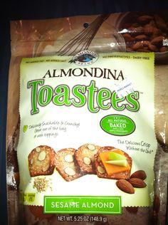 Almondina Toastees sesame almond all natural baked