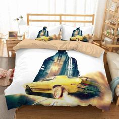 3D Customize Driver San Francisco Bedding Set Duvet Cover Set Bedroom | Three Lemons Hometextile Duvet Bedding Sets, Linen Bedding, Comforters, Custom Bedding, Bed Covers, Duvet Cover Sets, Pillow Covers, Creative Beds, Call Of Duty Black