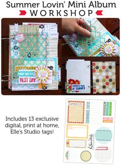 Summer Lovin' Mini Album Workshop :: Elle's Studio Tags :: Elle's Studio