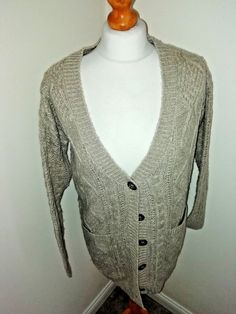 27242562f77 BROWN KNIT CARDIGAN - UK Size 8  fashion  clothing  shoes  accessories