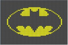 Superhero Logo Charts via The Happy Hooker Blog