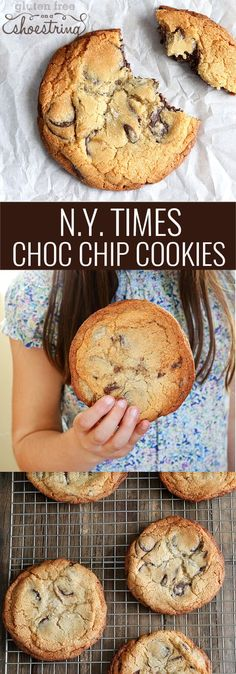 These gluten free New York Times Chocolate Chip Cookies taste exactly like the famous crispy-outside-chewy-inside cookies published (in gluten-containing form, of course) by the New York Times in 2009. glutenfreeonashoe...