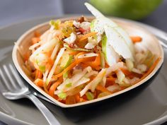 Julienne Carrot salad (fruited up with apples)