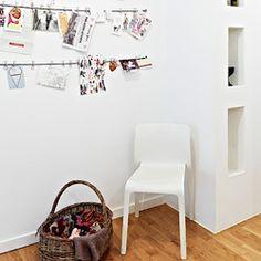 Simple and charming hallway idea.
