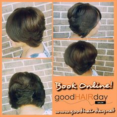 Bob and Highnlights, Make Up Application! Relaxed Styles, Natural Styles, Keratin Treatments, Custom Color, Precision Cuts Book online!  www.goodhairday.net
