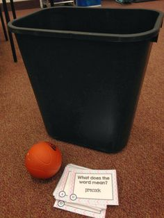 Diary of a Not So Wimpy Teacher: Totally Task Card Tuesday- Trashketball 4th Grade Classroom, 4th Grade Math, Classroom Activities, Classroom Ideas, Third Grade, Classroom Door, Educational Activities, Student Teaching, Teaching Reading
