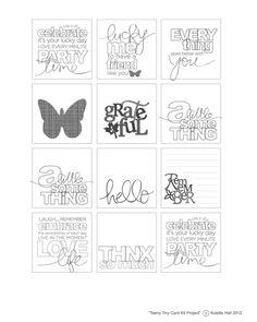 Teeny Tiny Card Kit - 2x2 Cards