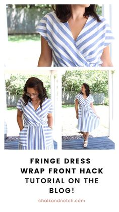 Have you made a Fringe Dress PDF sewing pattern yet? Customize it with a super simple hack: a wrap front! Our tutorial shows you how to adapt the pattern & construction