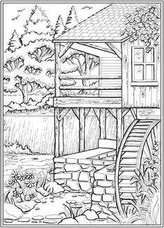Creative Haven Coloring Books for Adults Awesome Page 3 Of 7 Country Charm A Creative Haven Coloring Book by Teresa Goodridge Wel E to Dover Free Adult Coloring, Adult Coloring Book Pages, Printable Adult Coloring Pages, Coloring Pages To Print, Coloring Sheets, Colouring Pages For Adults, Dover Coloring Pages, Colorful Drawings, Colorful Pictures