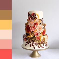 Pretty Cakes, Beautiful Cakes, Amazing Cakes, Buttercream Flowers, Buttercream Cake, Painted Cakes, Decorated Cakes, Raspberry Smoothie, Unique Cakes