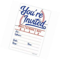 Baseball Party Invitations (20 Count) With Envelopes | Home & Garden, Greeting Cards & Party Supply, Greeting Cards & Invitations | eBay!