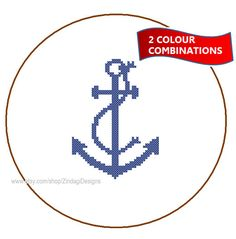 Instant Download Anchor Cross Stitch Pattern 2 by ZindagiDesigns