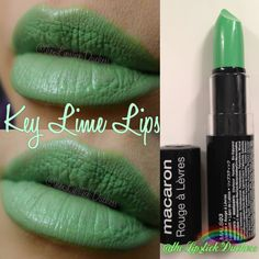 Key Lime Lips Green Lipstick, Nyx Lipstick, Nyx Macaron, Macarons, Makeup Designs, Creative Makeup, Key Lime, Nyx Cosmetics, How To Look Pretty