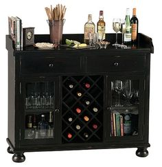 Cabernet Hills Wine Bar Cabinet, by Howard Miller. The Cabernet Hills wine bar cabinet is one of our favorites in our wine furniture collection. Wine Bar Cabinet, Wine Cabinets, Brown Cabinets, Cupboards, Kitchen Cabinets, Bar Interior, Bar Antique, Bar Console, Howard Miller
