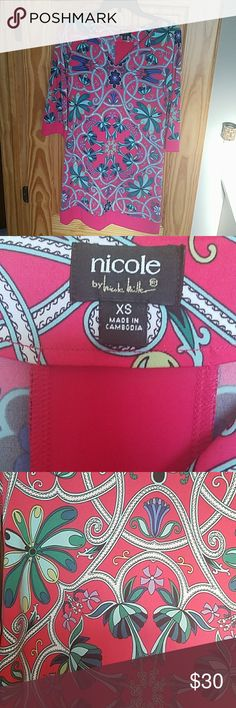 Nicole Miller Dress Wore once! Dry cleaned. Excellent condition. No wear, tears, or stains. Smoke and pet free home. Nicole Miller Dresses
