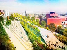FR-EE fernando romero corredor cultural chapultepec linear park mexico city designboom