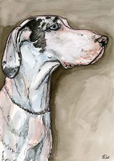 Great is not the word  Great Dane Art Dog Print by AlmostAnAngel66, £15.00