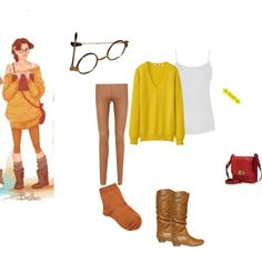 """Hipster Disney Princess-Belle"" by onedirectionlover78 on Polyvore"