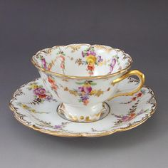 It is a cup & saucer of Dresden Flower Garland.
