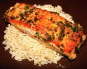Garlic Ginger Basil Salmon Recipe