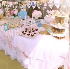 "Photo 4 of 22: Shabby Chic Vintage Cinderella Party / Birthday ""Giulia's Shabby Chic Birthday Party"""