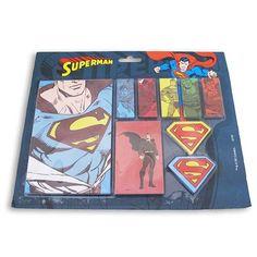 Bloco de Notas com Adesivos Superman