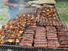Chilean Asado. Pork, chicken and beef. Fire roasted slowly and gently. Golden, spicy, fragrant and delicious. BBQ!!!