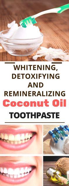 Whitening, Detoxifying And Remineralizing Coconut Oil Toothpastee... Read!!! ... #twwthwhitening #teeth #teethwhitner #coconutoil Amazing !!!