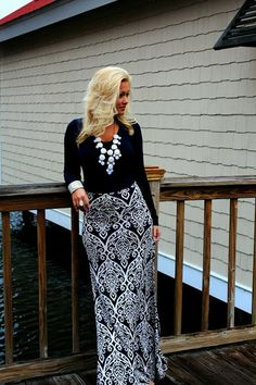 Sherri Hill | Damask Maxi Skirt | Jimmy Choo | Bubble Necklace | Cocktail Dress | Evening Gown |