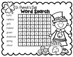 I hope you enjoy this St. Patrick's Day freebie.  It is great for morning work or those early finishers!  All words go horizontal or vertical.