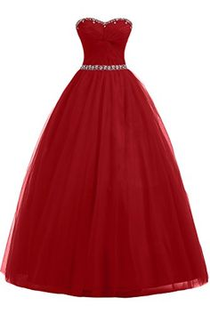 Sunvary Red Ball Gown Tulle Prom Dresses for Wedding Birdesmaid Gown- US Size 2- Red Sunvary http://www.amazon.com/dp/B00L3VF58M/ref=cm_sw_r_pi_dp_nEsCub10FPSRV